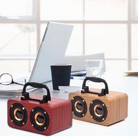 Wooden Wireless Bluetooth Speaker Home Office Mobile Phone Micro USB Charging Strong Bass Stereo Speaker Audio Device FT 4002