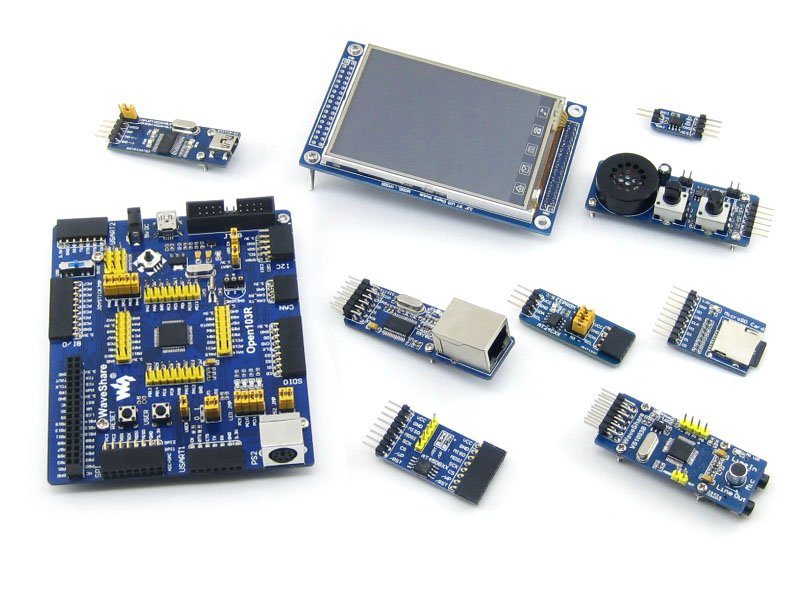 Open103R Package B# STM32F103RCT6 STM32F103 STM32 ARM Cortex-M3 Open103R Development Board+8 Modules Kits+PL2303 USB UART Board module stm32 arm cortex m3 development board stm32f107vct6 stm32f107 8pcs accessory modules freeshipping open107v package b
