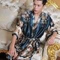 2016 amantes de invierno hombres mujeres 100% algodón terry albornoz toalla sólida larga pijamas albornoz kimono bata femme bridesma