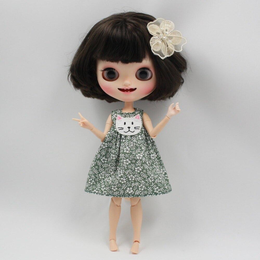 Neo Blythe Doll Floral Dress with Headdress 2