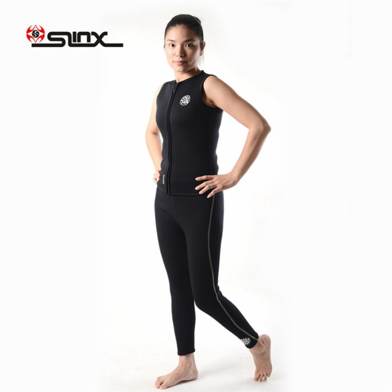 3MM New Pants Vest Sleeveless Snorkeling Pants Wetsuit Bottom or Top for Men Neoprene with Plush Lining Wetsuit