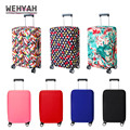 Wehyah эластичный Чехол для багажа  чехлы для чемоданов  аксессуары для путешествий  с принтом  в полоску  пылезащитный чехол 18 ''-20''  твердый ZY133
