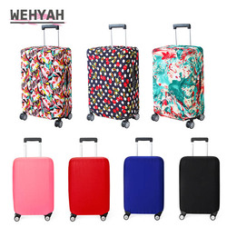 Wehyah Stretch Luggage Cover Suitcase Covers Travel Accessories Printed Striped Dust Cover 18''-20'' Protective Case Solid ZY133