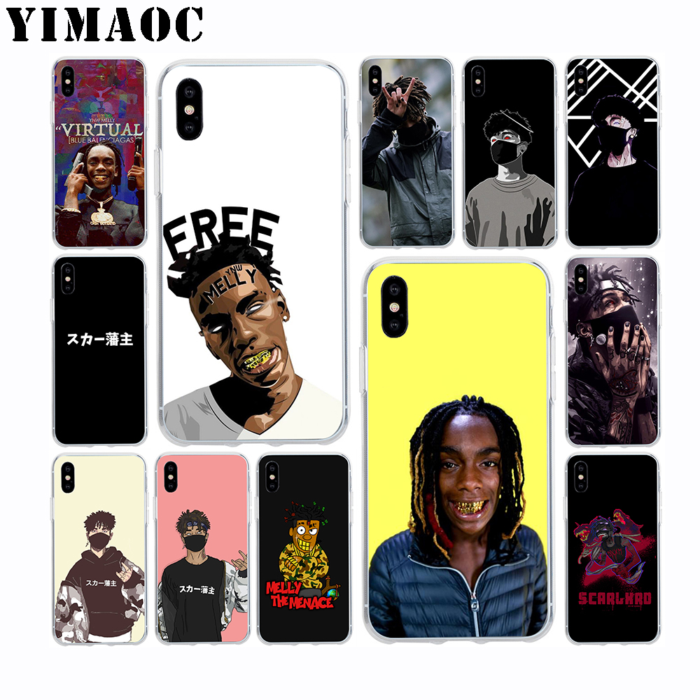 US $1 77 29% OFF|YIMAOC Ynw Melly Scarlxrd Soft TPU Silicone Case for Apple  Iphone Xr Xs Max X 10 8 Plus 7 6S 6 Plus SE 5S 5 7Plus 8Plus Cover-in