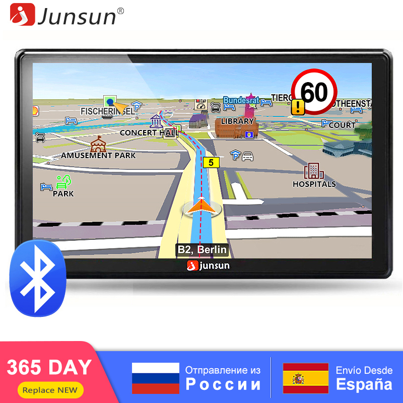 Junsun Portable Car GPS Navigation Bluetooth Units 7 Inch Capacitive screen 8GB Windows CE 6.0  Lifetime Lifetime Maps Navigator(China)