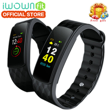 ФОТО iwown i6 hr c original iwownfit i6 hr c with color screen heart rate monitor wristband with fitness tracker sport smart band