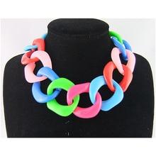 CirGen, модное большое массивное пластиковое ожерелье-чокер с цепочкой, массивные цепочки, колье, ювелирные изделия, SS819