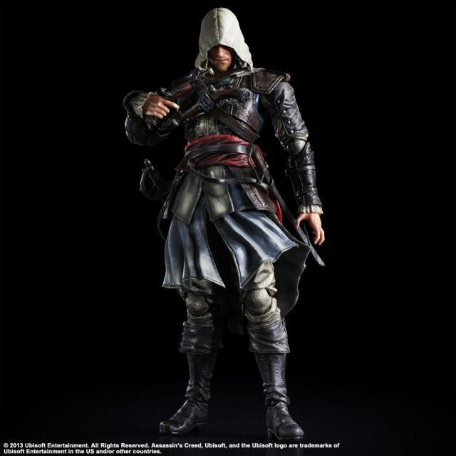 Assassin's Creed Action Figure Playarts Kai Edward James Kenway Toys Model PVC 275mm Assassin's Creed Edward Play arts Kai фигурка assassin s creed iv edward kenway master of the seas 45 см