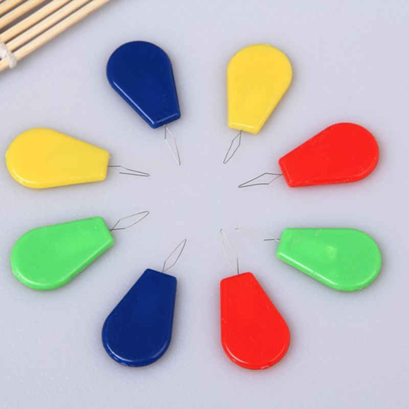 10pcs NEW Fashion Sewing Needle Threader Machine Neddle Threader With Plastic Handle Assorted Colors Useful Tool