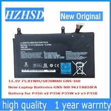 11 1V 6830mAh 75 81Wh new Original GNS I60 Laptop Battery for GIGABYTE 961TAO10FA P35K P37X