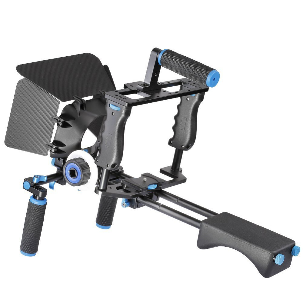 YELANGU DSLR Rig Video Stabilizer Kit Film Equipment Matte Box Cage Shoulder Mount Follow Focus for