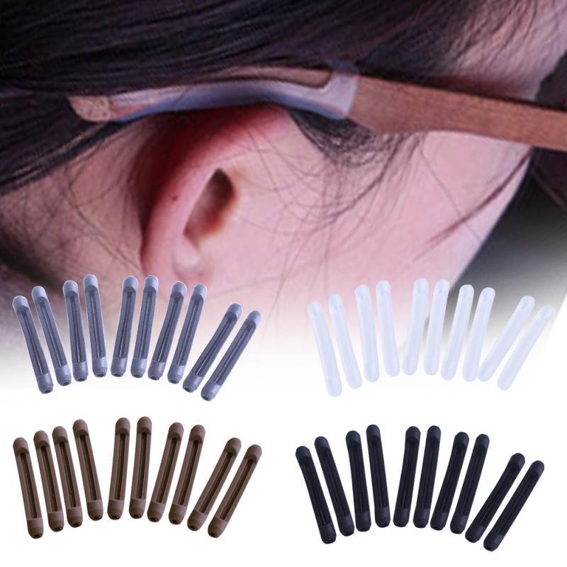 2020 5pairs/set Glasses Anti-slip Cover Ear Hook Silicone Anti-Slip Holder For Sunglasses Eyeglass Leg Temple Tips Black#20