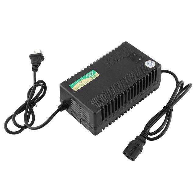 36 V 20AH Cargador de Batería Inteligente de Carga para Bicicletas Eléctricas Scooters Eléctricos Electrocardiograma Avanzada tecnología Negro nuevo