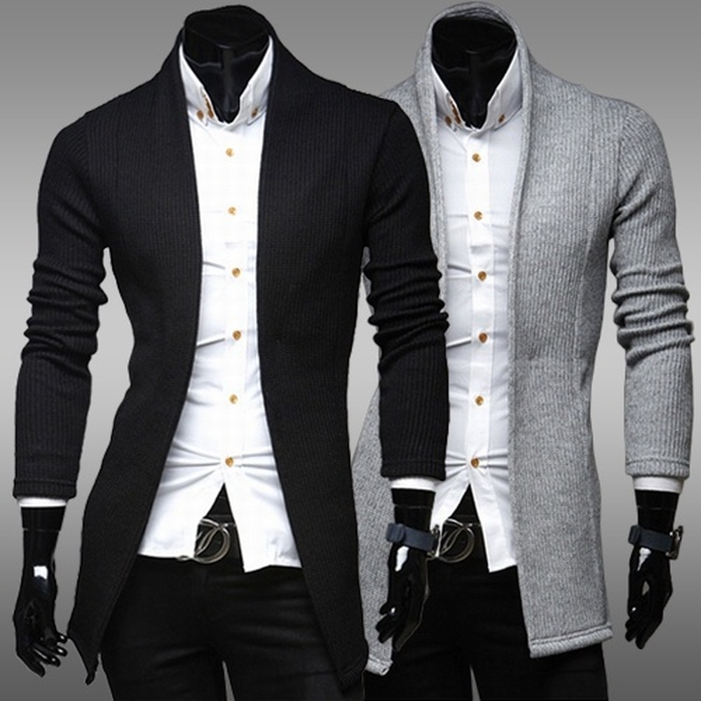 Zogaa Brand Mens Winter Sweaters Casual Simple Cardigan Sweater Full Lenghth Slim Fashion Design Sweaters For Man Clothing 2019