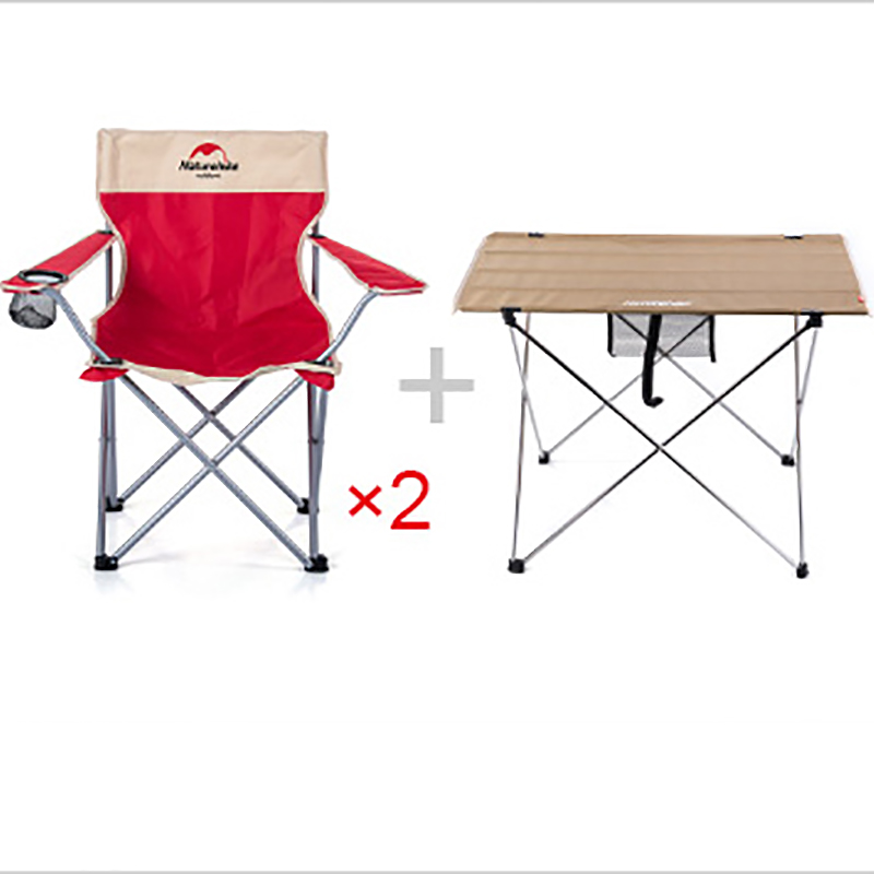 POINT BREAK Outdoor Red armchair*2 And A Khaki Large Table Barbecue  Folding Tables And Chairs Set fire maple sw28888 outdoor tactical motorcycling wild game abs helmet khaki