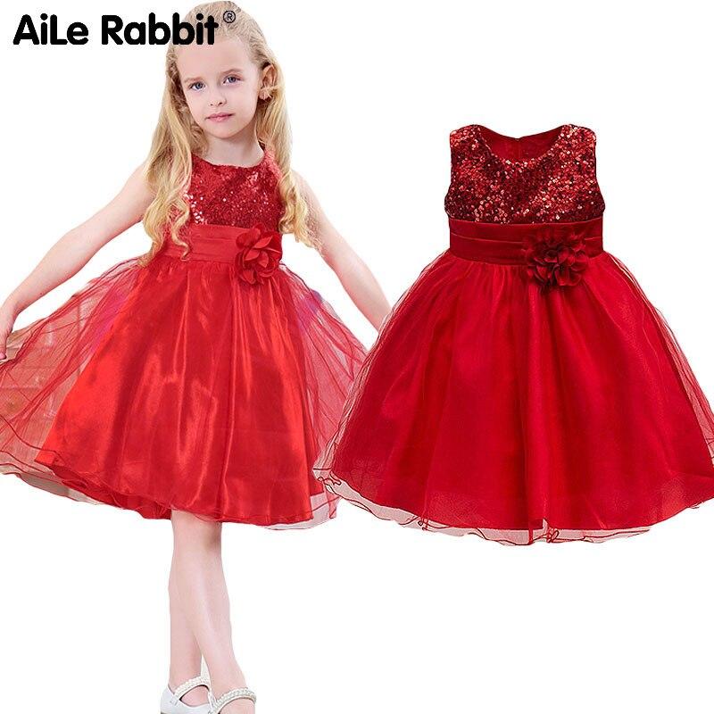 купить 2018 Limited Aile Rabbit Kids Girls Dresses Wedding Party Ins Fashion Puff Dress Sleeveless Vest Brand Of Children's Clothes по цене 577.98 рублей