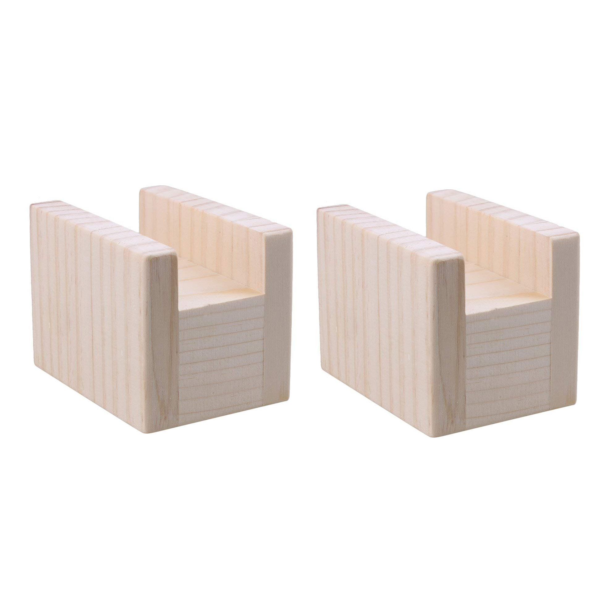 2pcs Wooden Furniture Lifter Table Storage 10x5x8.5cm for Sofa Dressers Bed