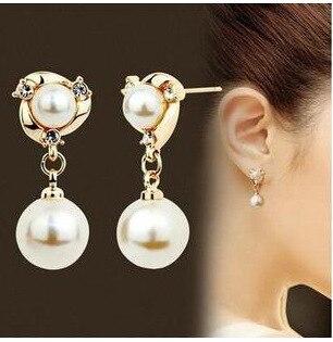 Pulsera elegante señores charm piedra natural perlas flexible negro oro mancuerna