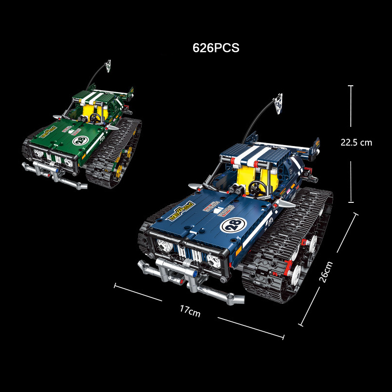 Technics Outdoor Mountain Tracked off road vehicle radio remote control vehicle building block 2 4Ghz rc