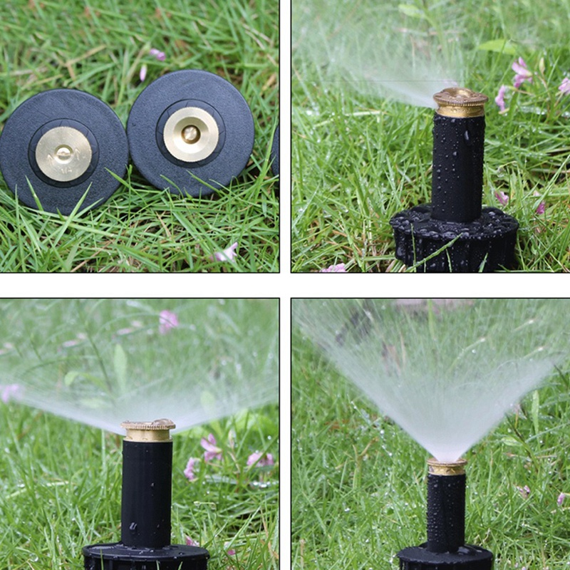 Garden Lawn Sprinkler Automatic Telescopic Sprinkler System Copper Nozzle Adjustable Pop Up Sprinkler Lawn Watering 12 Pieces in Sprayers from Home Garden