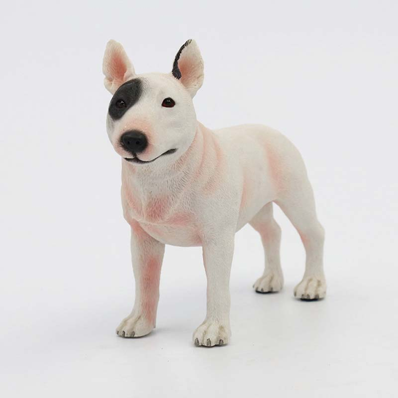 Mnotht 1/6 Bull Terrier Dog Model Model Anmial Dog Pet Sculpture - Խաղային արձանիկներ - Լուսանկար 4