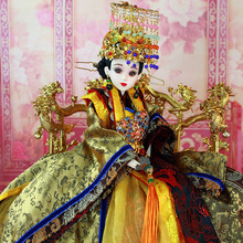 14″ Handcrafted Collectible Chinese Dolls Vintage Empress Wu Zetian Doll High-end BJD Girl Dolls Christmas Gifts Toys