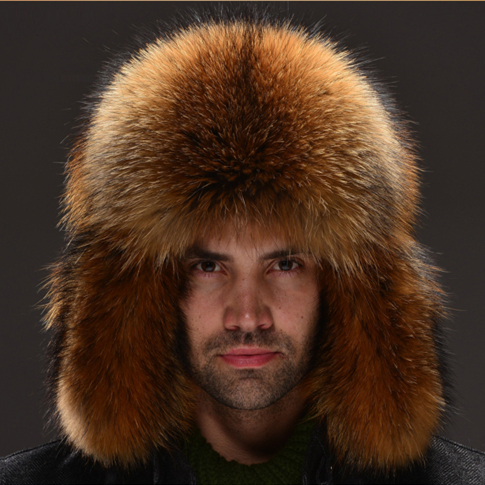 HM026 Real genuine racoon dog  fur hat  winter men's warm caps whole piece racoon dog fur hats roomble люстра racoon white