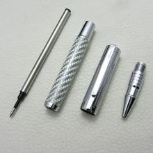 Roller Ball Pen Silver Carbon Fiber