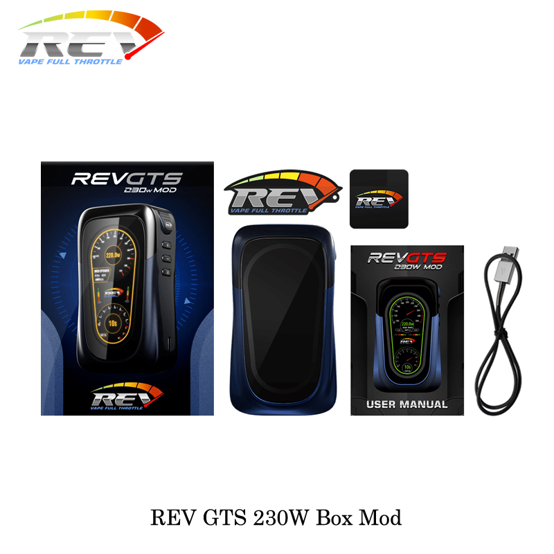 Cigarettes électroniques REV GTS 230 W boîte de contrôle de température Mod double 18650 batterie Vape VS eleaf istick pico mod boîte vaporisateur