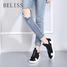 BELISS black woman flats casual shoes spring fall comfortable breathable mesh platform sneakers women hot sale P7