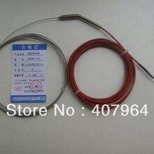 K thermocouple  SS304 sheath  0-400C L=3000mm diameter 1mm  Fine Diameter with transaction tube