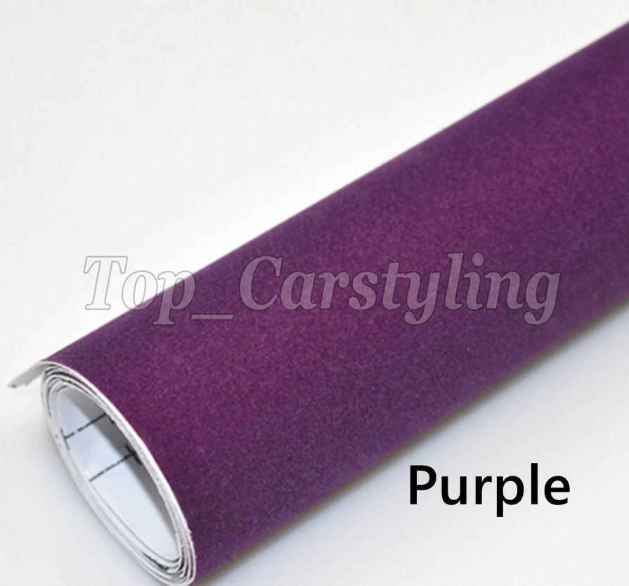 *Purple Velvet Suede Textured Vinyl Car Wrap Decal Sticker Self Adhesive