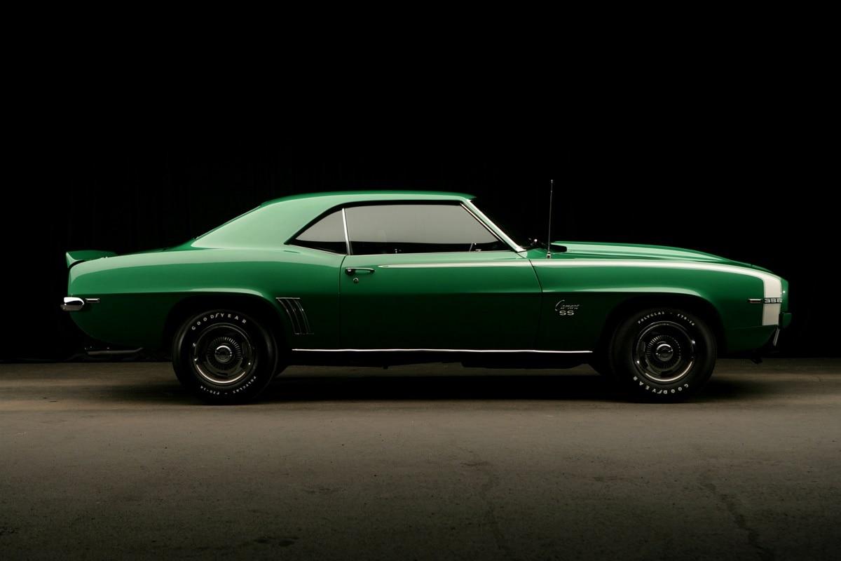 1969 Chevrolet Camaro retro Cool muscle car KC225 Sala hogar pared ...