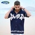 Camisa Havaiana Aloha Shirt dos homens de Verão Casuais Camisas Florais Praia de Manga Curta Bolso da Camisa EUA Tamanho S-XXL A860