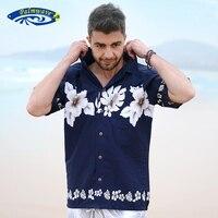 Men's Hawaiian Shirt Aloha Shirt Summer Casual Floral Shirts Short Sleeve Beach Shirt Pocket US Size S XXL A860