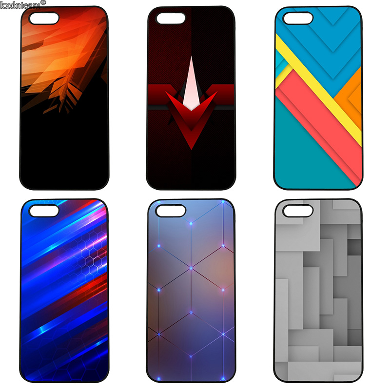 Colorful Geometry Hard Back Phone Case Hard Anti-knock Cover for iphone 8 7 6 6S Plus X 5S 5C 5 SE 4 4S iPod Touch 4 5 6 Shell