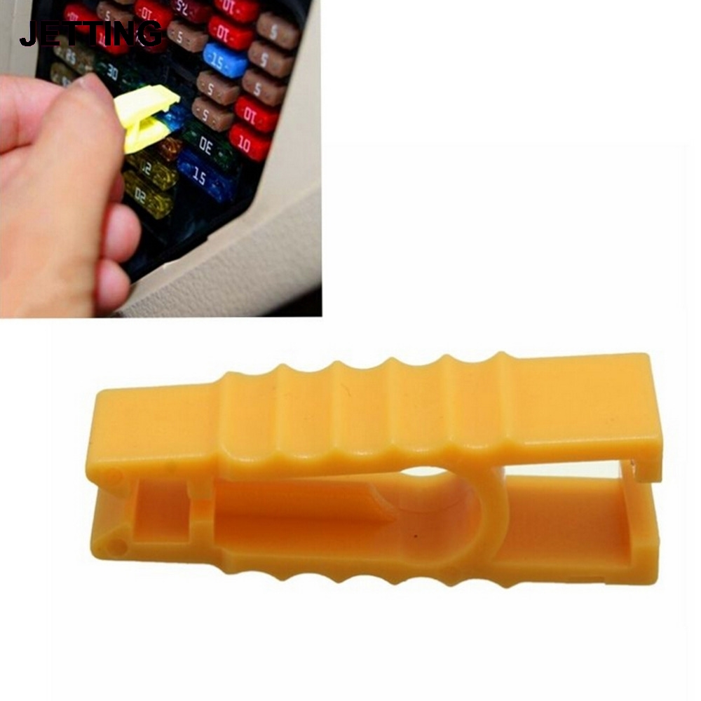 2Pcs/lot New Sale Yellow Fuse Puller Car Automobile Fuse Clip Tools Extractor for Car Fuse Tools image