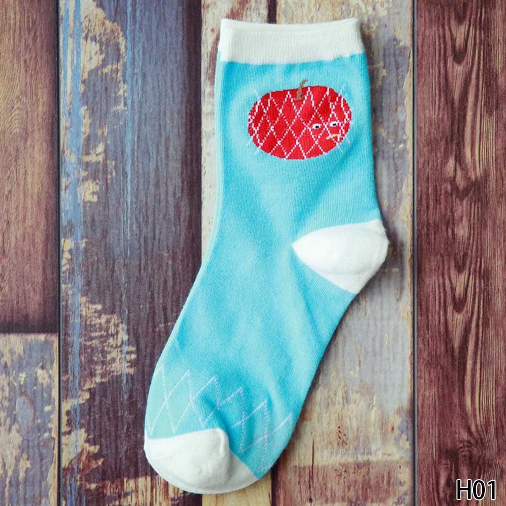 New Arrival Fruit Women Socks Fashion Casual Cute Fruit Style Cotton Sock Fruit Series Female Socks