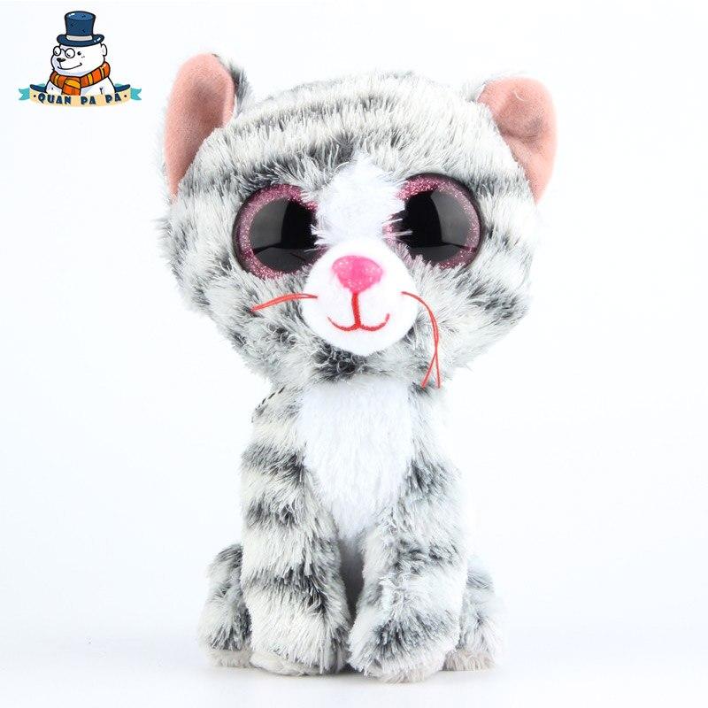 [Quanpapa] Новое 15 см хлопок Животные плюшевые игрушки Серый Кот кукла регулярное мягкие Животные Ty Beanie Боос плюшевые игрушка для ребенка