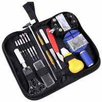 147Pcs Watch Repair Tools Kit with Carrying Watch Opener Pin Link Remover Bar Instruments Set Screwdriver Clock Watchmaker Parts