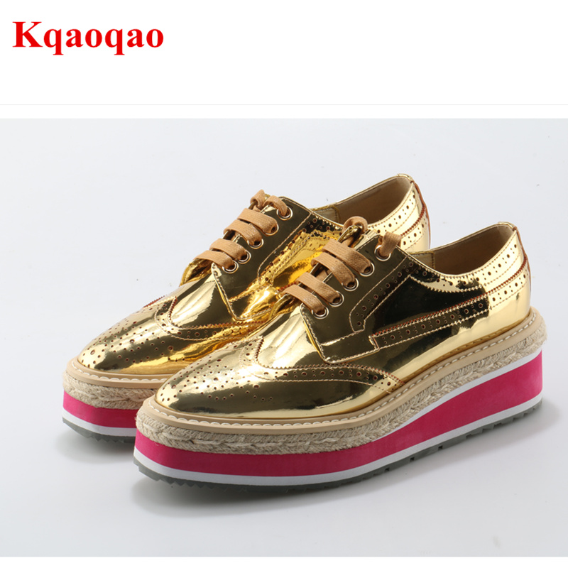 White Lace Up Cross-tied Square Toe Women Casual Pumps Fashion Wedges Platfrom Spring Autumn Leisure Shoes Zapatos Mujer Female 2016 spring autumn women pumps fashion square toe lace up ladies shoes silver platform wedges high heels zapatos mujer 33 40