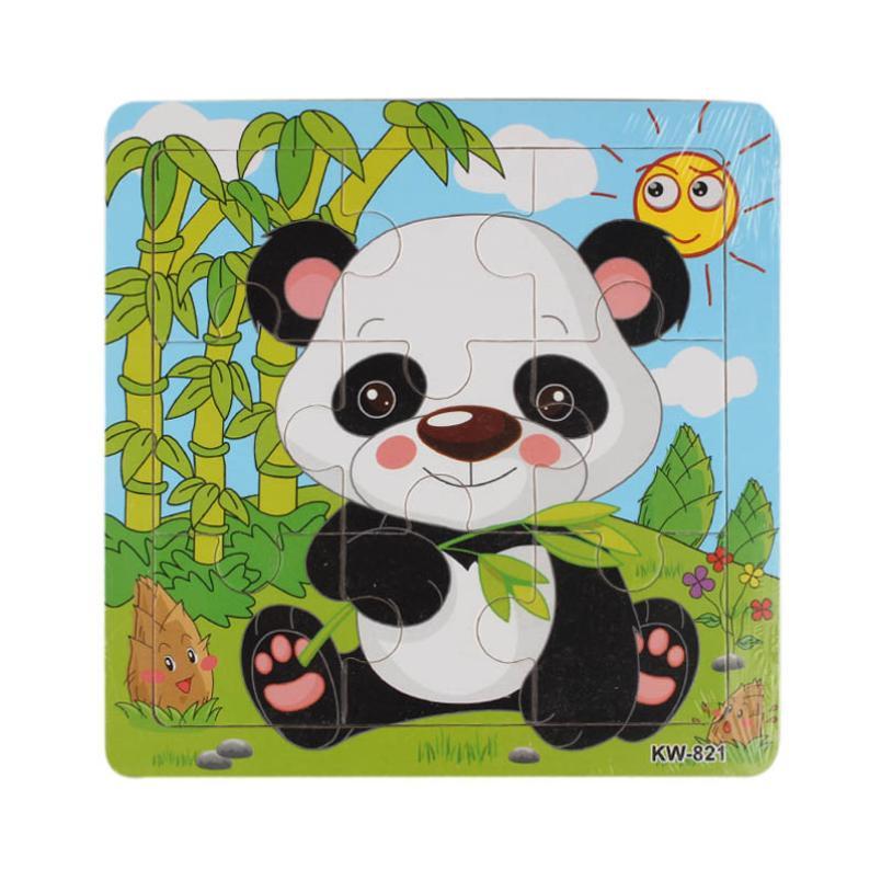 Kayu Jigsaw Berwarna pola hewan Mainan Untuk Anak-anak Pendidikan Dan Pembelajaran Teka-teki Mainan D50
