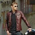 2016 hombres ' s De Cuero De la PU guapo punky chaqueta nueva Red piel chaquetas De la cremallera hombres Chupas De Hombre Leather 609
