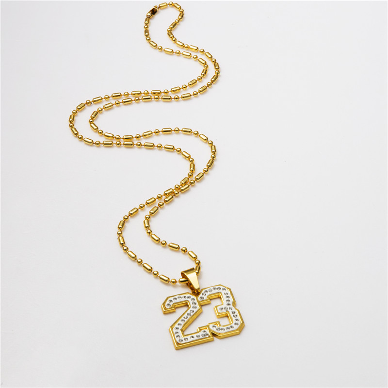 Number jewelry charms beautyful jewelry number 23 pendants necklace golden plated mens hip hop chains for aloadofball Choice Image