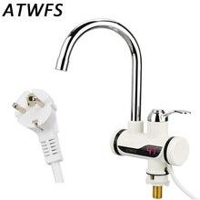 Atwfs tankless проточный водонагреватель мгновенный холодной нагреватель отопление горячей кран кухня