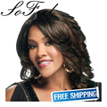 Sofeel New Futura Fiber, Natural Baby Hair  Wigs in Color 1B high temperature fiber free shipping