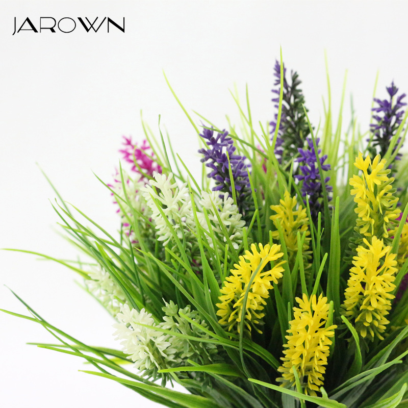 JAROWN Artificial Flower Plastic Fake Flowers Simulation Lavender Bouquet Flores Wedding Decor Home Gardening Decor Accessories