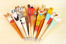 Hand Carved Wooden Animals Ballpoint pen , Engraved Craft Gift Ball Pen