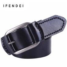 IFENDEI Erste Schicht Aus Leder Gürtel Männer Hand nähen Casual 100% Echtes Leder Gürtel Männlich & Weibliche Schnalle Ceinture Homme