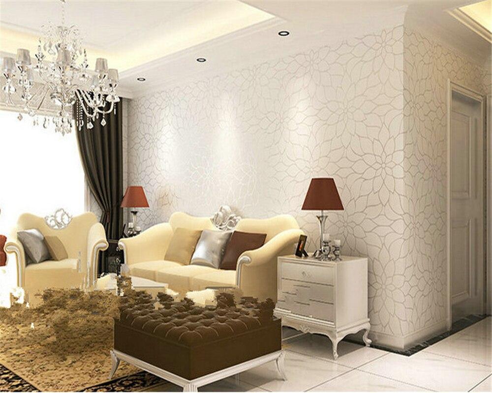 Beibehang papier peint moderne simple lotus papier peint non tissé salon chaud fond TV papier peint 3d papier peint tapety
